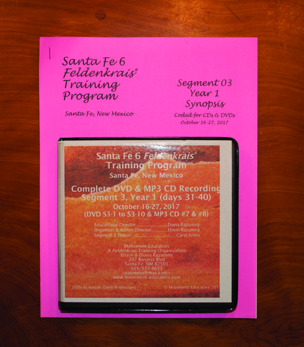 Santa Fe 6 Segment 03/Year 1; Complete DVD & MP3 CD Recordings; 10 days of training