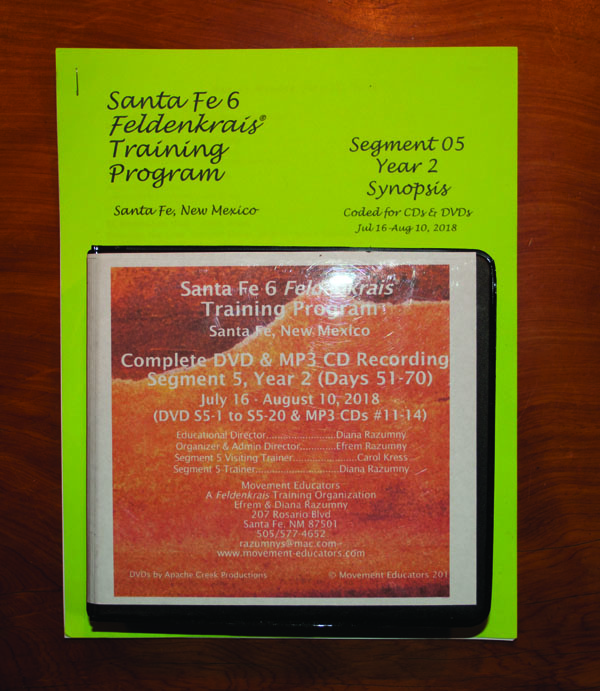 Santa Fe 6 Segment 05/Year 2; Complete DVD & MP3 CD Recordings; 20 days of training