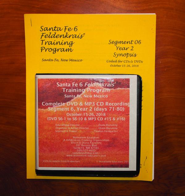 Santa Fe 6 Segment 06/Year 2; Complete DVD & MP3 CD Recordings; 10 days of training