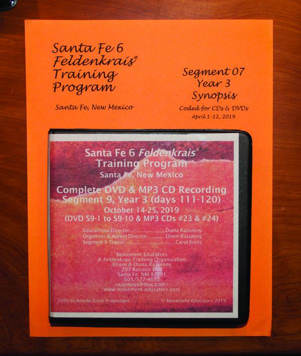 Santa Fe 6 Segment 07/Year 3; Complete DVD & MP3 CD Recordings; 10 days of training