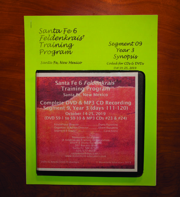 Santa Fe 6 Segment 09/Year 3; Complete DVD & MP3 CD Recordings; 10 days of training
